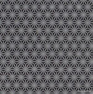 papier fabriqué à la main asanoha noir et blanc papertree