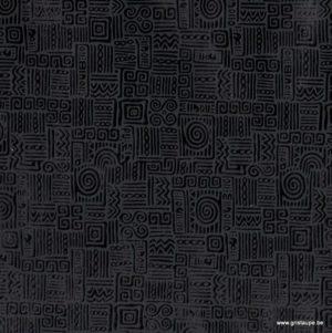 papier fabriqué à la main azteca noir brillant