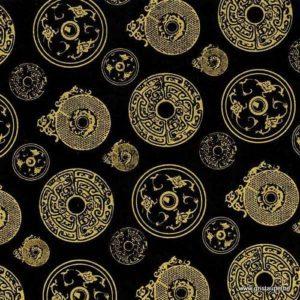 papier main lamali lokta jade or et noir