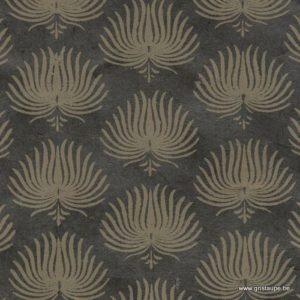 papier main lamali lokta palmes gris