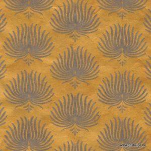 papier main lamali lokta palmes jaune