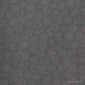 papier main lamali lokta rondalo gris