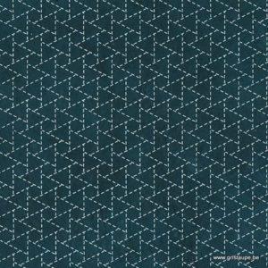 papier main lamali lokta sankakkei indigo
