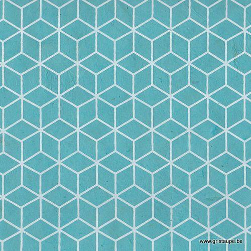papier main lamali lokta baindouche turquoise