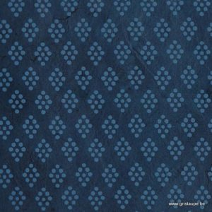 papier main lamali lokta louise bleu
