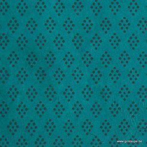 papier main lamali lokta louise turquoise