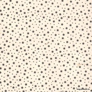 papier main lamali lokta star white and black