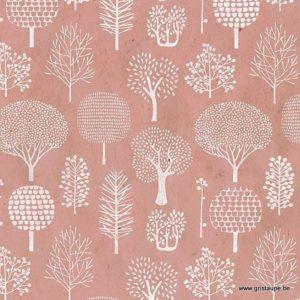 papier main lamali lokta foret rose pâle