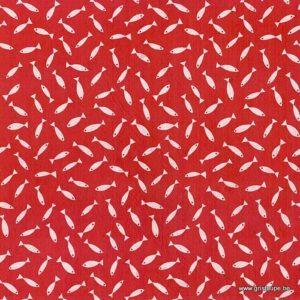 papier main lokta lamali sardine blanc et rouge