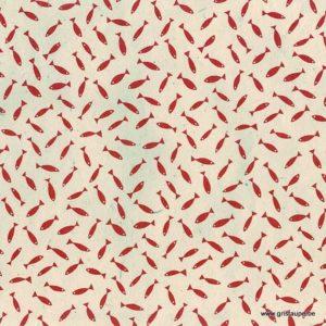 papier main du népal lamali sardine rouge