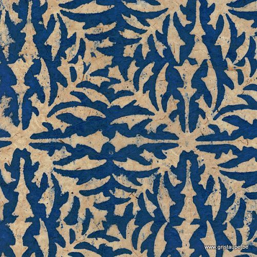 papier main lokta lamali belem bleu