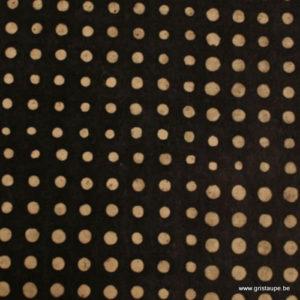 papier main lokta du népal lamali pois noir