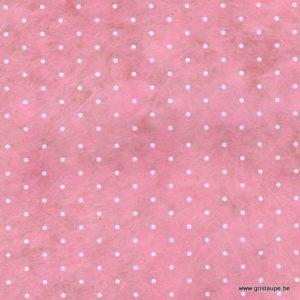 papier main lamali lokta polka rose