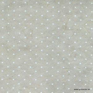 papier main lamali lokta polka gris