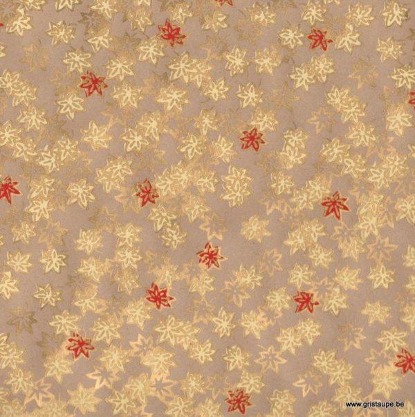 papier papertree fabriqué à la main saké beige et doré