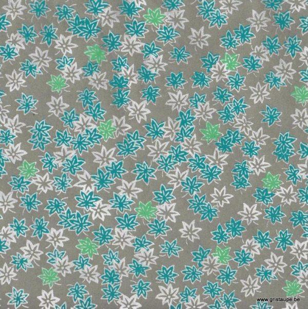 papier papertree fabriqué à la main saké turquoise et argent
