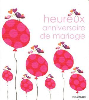 carte poste illustrée par hil claessens et éditée aux éditions mailbox heureux anniversaire de mariage