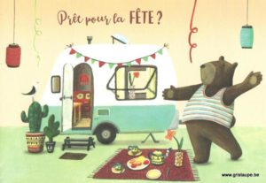 carte postale éditée par les éditions enfant terrible prêt pour la fête?