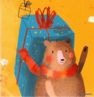 carte postale illustrée par sophia touliatou et éditée aux éditions aquarupella happy bearthday