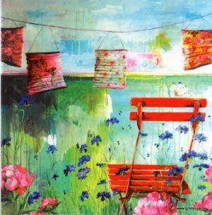 carte postale illustrée par sophie adde et éditée aux éditions aquarupella sous les lampions