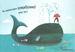 carte postale éditée par les éditions enfant terrible un anniversaire sensationnel pour toi