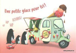 carte postale éditée par les éditions enfant terrible une petite glace pour toi hourra