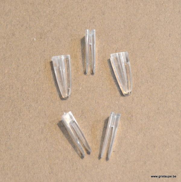 clips transparents artiteq pour suspendre des photos ou des cartes à un fil perlon