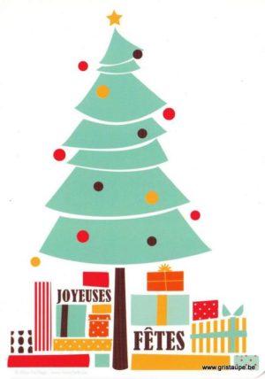 carte postale illustrée par alice de page et éditée aux éditions sur un nuage joyeuses fêtes