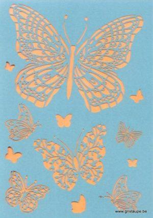 carte postale double découpée au laser formant des papillons éditée aux éditions quire