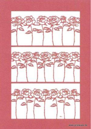 carte postale double découpée au laser et éditée aux éditions quire delicatissimo roses