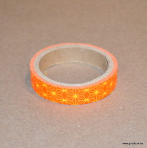 masking tape fin artemio géométrie orange