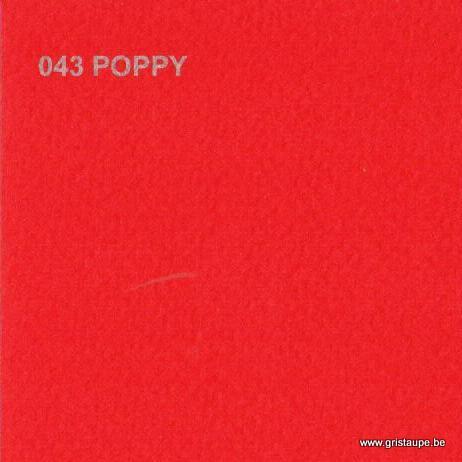 papier dessin murano de couleur rouge coquelicot
