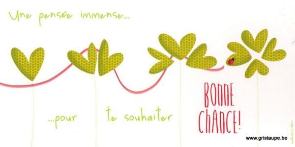 carte postale illustrée par valentine iokem et éditée par les éditions de cortil bonne chance