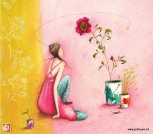 carte postale illustrée par gaelle boissonnard et éditée aux éditions aquarupella l'artiste