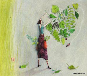 carte postale illustrée par gaelle boissonnard et éditée aux éditions aquarupella l'herbier