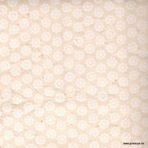 papier main lamali fleurs d'avril blanc pour l'encadrement le cartonnage et la reliure