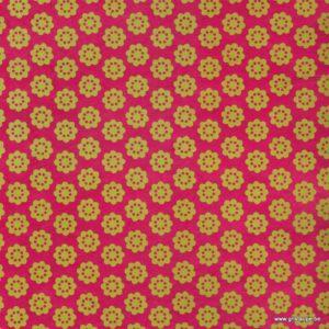 papier main lamali fleur d'avril cerise pour l'encadrement le cartonnage et la reliure