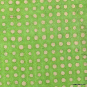 papier main lamali pois vert pour encadrement cartonnage reliure