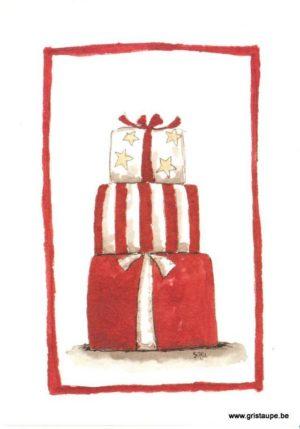 Carte de voeux de sari montagne de cadeau