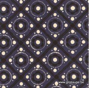 papier italien carta varese aux motifs géométriques bleu type carrelage