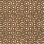 papier italien carta varese petites fleurs sur fond brun