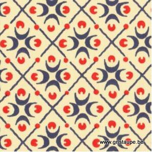 papier italien carta varese aux motifs géométriques de croissants bleu et rouge