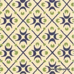 papier italien carta varese motifs croissants vert et bleu