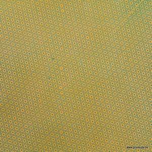 papier lokta népalais tudi billo roues bleues océean sur fond jaune