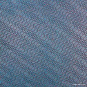 papier main tudi billo roue saumon sur fond bleu