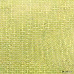 papier lokta du népal tudi billo fleurs blanches ovales sur fond vert clair