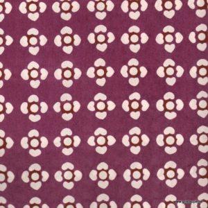 papier japonais ou washi katazome décoréau pochoir fleurs claires sur fond prune