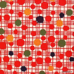 papier japonais ou washi katazome décoré au pochoir pois multicolores