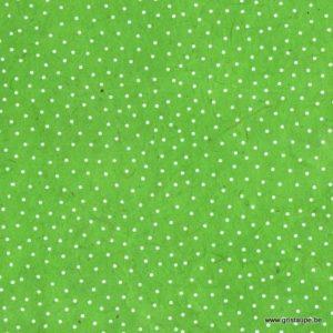 papier main fabriqué au népal petits pois blancs sur fond vert