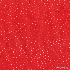 papier main fabriqué au Népal petits pois blanc sur fond rouge